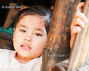 Karen and other refugees from Burma in the largest camp on the Thai border - Mae La near Mae Sot, Northern Thailand