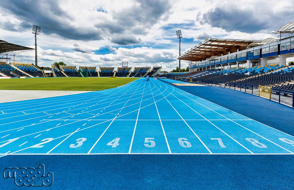 Photo of blue running tracks