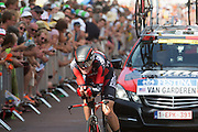 Tayjay van Garderen van de BMC ploeg. In Utrecht is deTour de France van start gegaan met een tijdrit. De stad was al vroeg vol met toeschouwers. Het is voor het eerst dat de Tour in Utrecht start.<br /> <br /> In Utrecht the Tour de France has started with a time trial. Early in the morning the city was crowded with spectators. It is the first time the Tour starts in Utrecht.