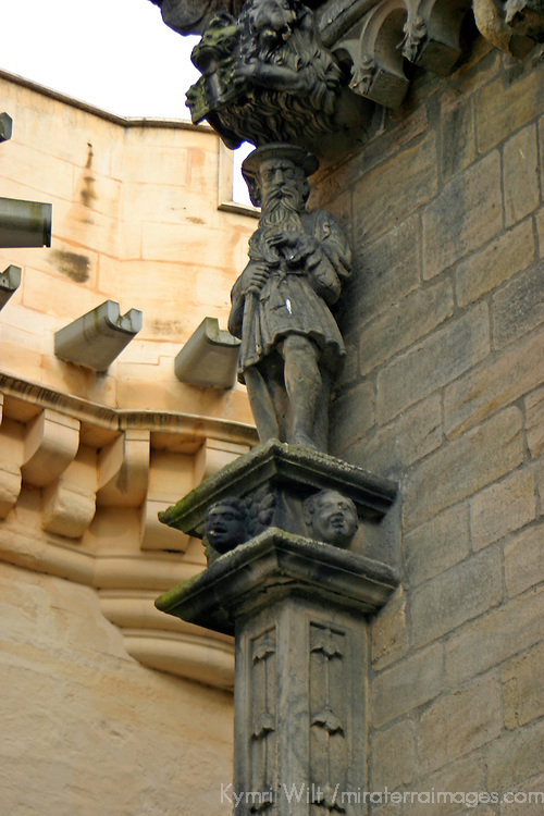 Europe, Great Britain, United Kingdom, Scotland. Architectural detail of Stirling Castle.