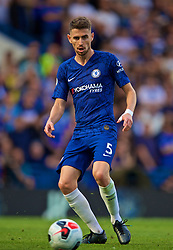 LONDON, ENGLAND - Sunday, August 18, 2019: Chelsea's Jorge Luiz Frello Filho 'Jorginho' during the FA Premier League match between Chelsea's  FC and Leicester City FC at Stamford Bridge. (Pic by David Rawcliffe/Propaganda)