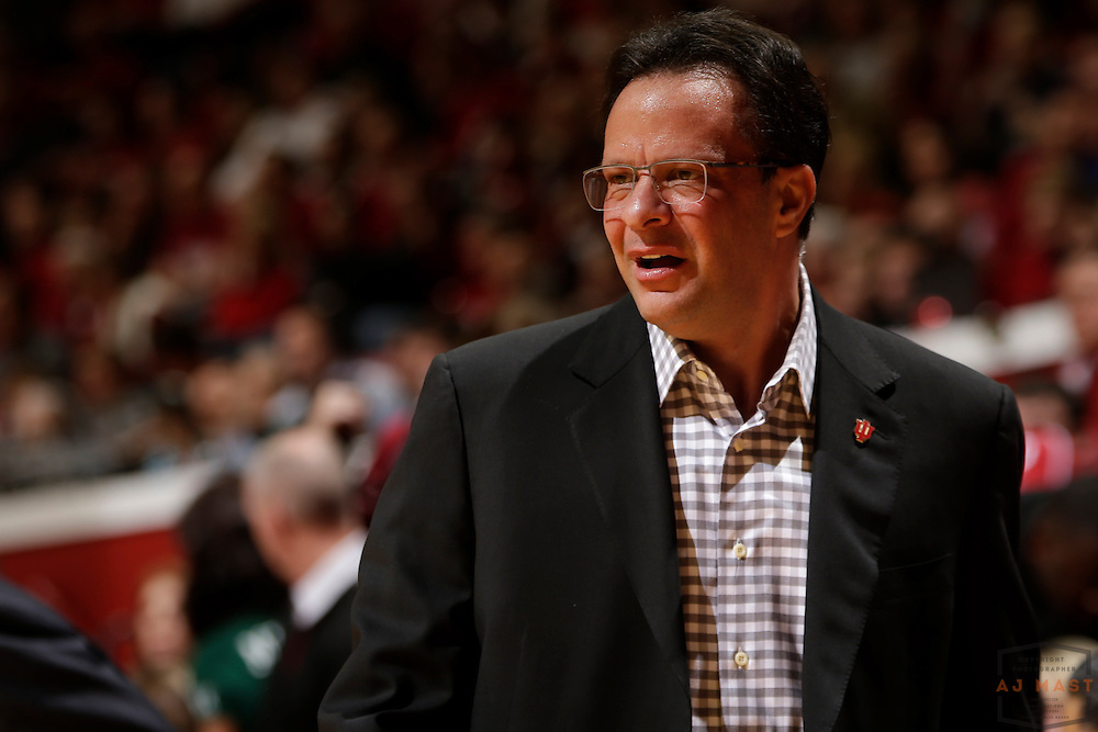 Indiana head coach Tom Crean as Michigan State played Indiana in an NCCA college basketball game in Bloomington, Ind., Saturday, March 7, 2015. (AJ Mast)