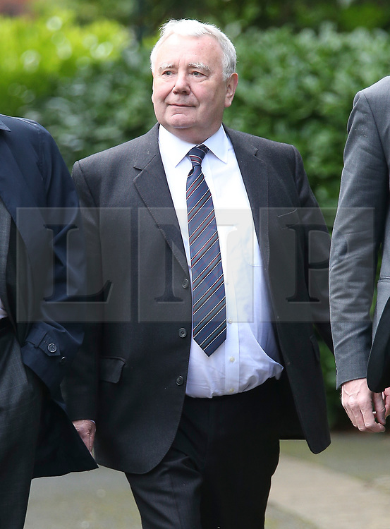 © Licensed to London News Pictures. 09/08/2017. Warrington, UK. South Yorkshire Police solicitor Peter Metcalf arrives at Warrington Magistrates Court. Former West Yorkshire Police Chief Sir Norman Bettison, former police officers Donald Denton and Alan Foster, South Yorkshire Police solicitor Peter Metcalf, and former Sheffield Wednesday secretary and safety officer Graham Mackrell are appearing at Warrington Magistrates Court today to face charges relating to the Hillsborough tragedy where 96 people died in 1989. Photo credit: Andrew McCaren/LNP