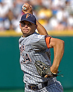 Cal State Fullerton starting pitcher Laurne Gagnier pitched 6.2 innings against Clemson.  Cal State Fullerton eliminated Clemson from the College World Series with a 7-6 win at Rosenblatt Stadium in Omaha, Nebraska, June 20, 2006.