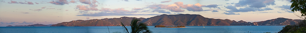 panorama of Tortola from Jost Van Dyke