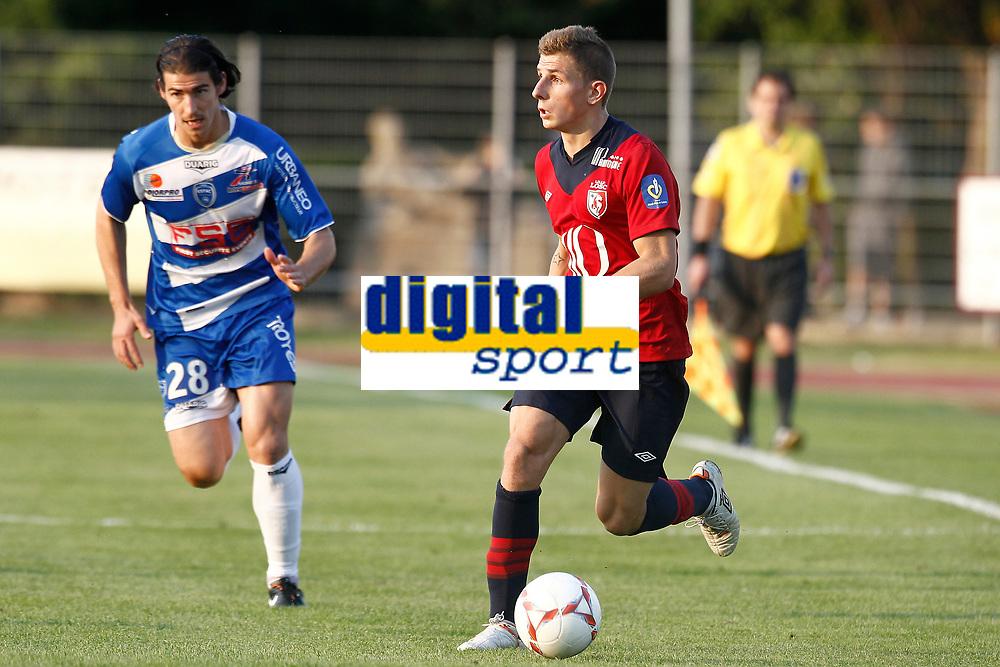 FOOTBALL - FRIENDLY GAMES 2012/2013 - LILLE OSC v ES TROYES - 21/07/2011 - PHOTO CHRISTOPHE ELISE / DPPI - LUCAS DIGNE (LOSC)