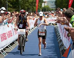 03.07.2011, Strandbad, Klagenfurt, AUT, Austria Ironman 2011, im Bild Erika Csomor, HUN, AUT, EXPA Pictures © 2011, PhotoCredit: EXPA/ M. Kuhnke