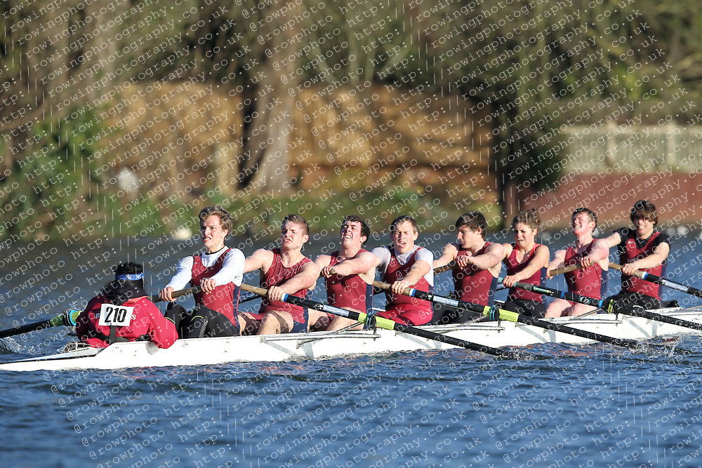 2012.02.25 Reading University Head 2012. The River Thames. Division 2. Oxford Brookes University Boat Club Nov 8+