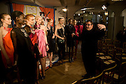 Alber Elbaz,REHEARSING THE PRESENTATION.  The Launch of the Lanvin store on Mount St. Presentation and cocktails.  London. 26 March 2009