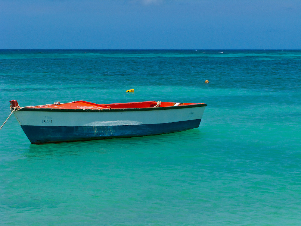 A small fishing boat in Aruba.