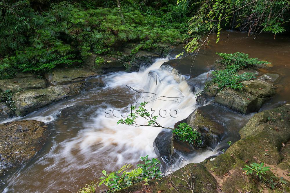 A small waterfall,  Maliau Basin, Sabah, Malaysia, Borneo,