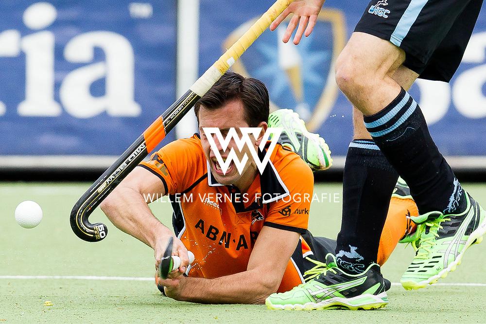 Eindhoven - OZ - HGC Heren, Hoofdklasse Hockey Heren, Seizoen 2015-2016, 30-04-2016, OZ - HGC, Niek van der Schoot.