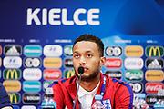 KIELCE, POLEN 2017-06-15<br /> Lewis Baker under Englands U21 landslags press konferens p&aring; Kielce Arena den 15 juni 2017.<br /> Foto: Nils Petter Nilsson/Ombrello<br /> Fri anv&auml;ndning f&ouml;r kunder som k&ouml;pt U21-paketet.<br /> Annars Betalbild.<br /> ***BETALBILD***