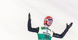 21.02.2016, Salpausselkae Schanze, Lahti, FIN, FIS Weltcup Ski Sprung, Lahti, Herren, im Bild Andreas Wank (GER) // Andreas Wank of Germany reacts during Mens FIS Skijumping World Cup of the Lahti Ski Games at the Salpausselkae Hill in Lahti, Finland on 2016/02/21. EXPA Pictures © 2016, PhotoCredit: EXPA/ JFK