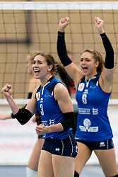 26-10-2019 NED: Talentteam Papendal - Sliedrecht Sport, Ede<br /> Round 4 of Eredivisie volleyball - Dani Dammers #3 of Sliedrecht Sport