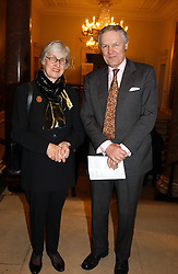 MRS ANNABEL CAMPIGOTTO and SIR ANTHONY FIGGIS at a private view of the new exhibition 'Matisse, his Art and his Textiles' at the Royal Academy of Art, Burlington House, Piccadilly, London on 1st March 2005.<br /><br />NON EXCLUSIVE - WORLD RIGHTS