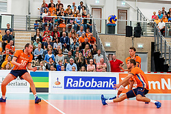 08-09-2018 NED: Netherlands - Argentina, Ede<br /> Second match of Gelderland Cup / Wouter ter Maat #16 of Netherlands, Gijs Jorna #7 of Netherlands, Wessel Keemink #2 of Netherlands