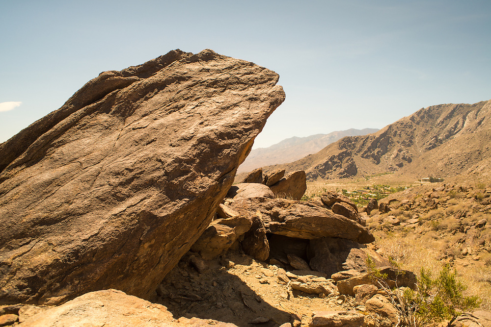 Rock formation and hills near Palm Springs, California