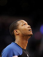 Mar. 12, 2012; Phoenix, AZ, USA;  Minnesota Timberwolves forward Anthony Randolph (15) reacts while playing against the Phoenix Suns at the US Airways Center. The Timberwolves defeated the Suns 127-124.  Mandatory Credit: Jennifer Stewart-US PRESSWIRE..