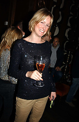 Writer CANDIDA CLARKE at a party hosted by Dom Perignon at Sketch, Conduit Street, London on 18th October 2006.<br />