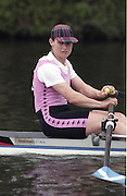 "Henley on Thames. Henley. GREAT BRITAIN;  <br /> GBR W1X. Fiona FRECKLETON,<br /> 1995 Women's Henley Regatta. Henley Reach. River Thames.<br /> <br /> [Mandatory Credit; ""Photo, Peter Spurrier/Intersport-images]"
