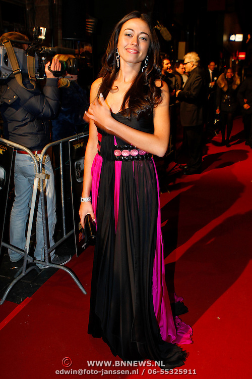 NLD/Amsterdam/20100215 - Premiere film Gangsterboys, Miss Nederland Deniz Akkoyun