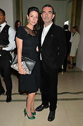 MARY McCARTNEY and SIMON ABOUD at the De Beers Moments in Light - a celebration of telented women in association with Women For Women International featuring photographs by Mary McCartney held at Claridge's, Brook Street, London on 18th September 2015.