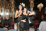 SERENA REES AND SADIE FROST Agent Provocateur celebrate the launch of Agent Provocateur Maitresse Gold Edition. The Grill Room. Cafe Royal London. 3 October 2007. -DO NOT ARCHIVE-© Copyright Photograph by Dafydd Jones. 248 Clapham Rd. London SW9 0PZ. Tel 0207 820 0771. www.dafjones.com.