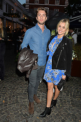 ASHLEY ROBERTS and DAVID TOSETTI at the Bluebird's End of Summer Party with Taylor Morris held at Bluebird, 350 King's Road, London on 29th September 2016.