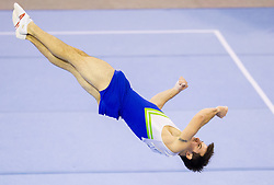 Rok Klavora of Slovenia competes during Qualifications day of Artistic Gymnastics World Cup Ljubljana, on April 26, 2013, in Hala Tivoli, Ljubljana, Slovenia. (Photo By Vid Ponikvar / Sportida.com)
