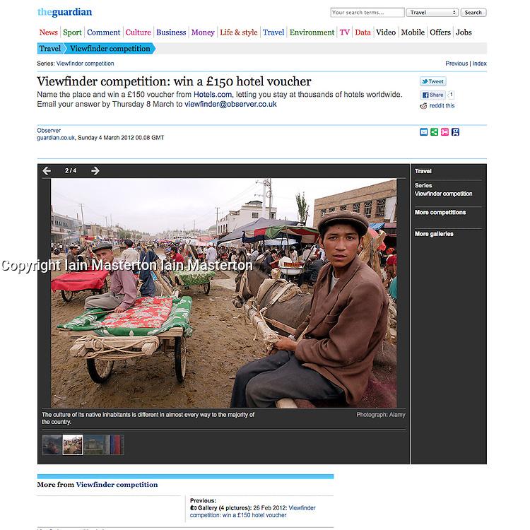 The Guardian; Kashgar in China