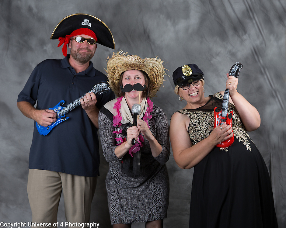 Fun at the photo booth.  Everyone is a rock star, especially at the reception.