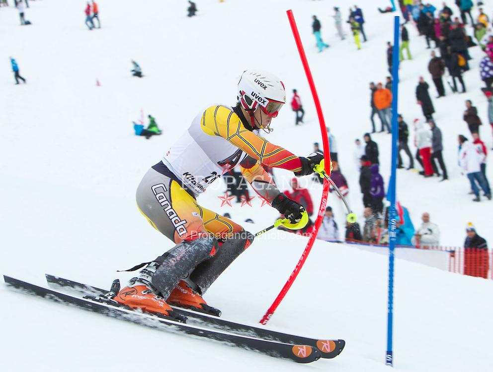 22.01.2012, Ganslernhang, Kitzbuehel, AUT, FIS Weltcup Ski Alpin, 72. Hahnenkammrennen, Herren, Slalom 1. Durchgang, im Bild Brad Spence (CAN) // Brad Spence of Canada during Slalom race 1st run of 72th Hahnenkammrace of FIS Ski Alpine World Cup at 'Ganslernhang' course in Kitzbuhel, Austria on 2012/01/22. EXPA Pictures © 2012, PhotoCredit: EXPA/ Johann Groder