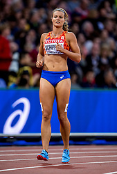 08-08-2017 IAAF World Championships Athletics day 5, London<br /> Dafne Schippers NED loopt een makkelijke 200 meter en plaatst zich voor de halve finale