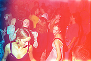 Clubbers dancing during a night as part of the Velvet Revolution Tour, 1994