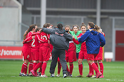 LLANELLI, WALES - Thursday, March 31, 2011: Turkey's players celebrate their 3-1 victory over Iceland during the UEFA European Women's Under-19 Championship Second Qualifying Round (Group 3) match at Parc Y Scarlets. (Photo by David Rawcliffe/Propaganda)