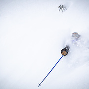 Owen Dudley gets huge faceshots during the biggest storm cycle of the season at Mount Baker Ski Area.