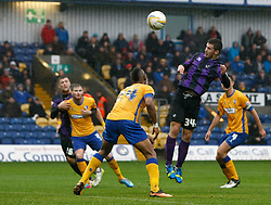 Bristol Rovers' Pat Keary heads at goal - Photo mandatory by-line: Matt Bunn/JMP - Tel: Mobile: 07966 386802 12/10/2013 - SPORT - FOOTBALL - Field Mill - Mansfield - Mansfield Town V Bristol Rovers - Sky Bet League 2