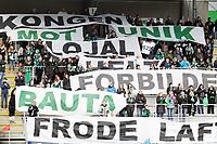 Fotball , 13. mai 2013 , Tippeligaen , Eliteserien<br /> Hønefoss - Rosenborg 1-2<br /> illustrasjon , Fosseberget , publikum , fan , fans hyller Frode Lafton