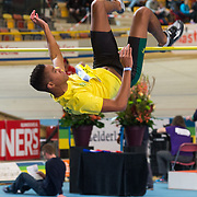 NLD/Apeldoorn/20180217 - NK Indoor Athletiek 2018, hoogspringen, Jaden Bernabela