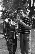 Two young black men, Caister Soul Festival. Circa. 1979.