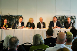Pictured: Juliet Swann (Associate Consultant at McNeill and Stone), Martyn McCluskey (Labour),  Mandy Rhodes (Holyrood Editor), Gavin Corbett (Greens), Nules Briggs (Conservative), and Marco Biagi (SNP)<br /> <br /> Political scientists from the Academy of Government at the University of Edinburgh discussed the factors that influenced voters, the direction of Scottish politics, and analysed changes since the 2015 general election. Among the speakers were Dr Jan Eichhorn (University of Edinburgh), Professors Ailsa Henderson and James Mitchell (University of Edinburgh), Professor Roger Scully (University of Cardiff) and Dr Heinz Branbdenburg (Strathclyde University). Politicians joined the group discussion chaired by Mandy Rhodes (Holyrood Editort) with Marco Biagi (SNP), Nules Briggs (Conservative), Gavin Corbett (Greens), Juliet Swann (Associate Consultant at McNeill and Stone) and Martyn McCluskey (Labour) <br /> <br /> Ger Harley | EEm 13 May  2016