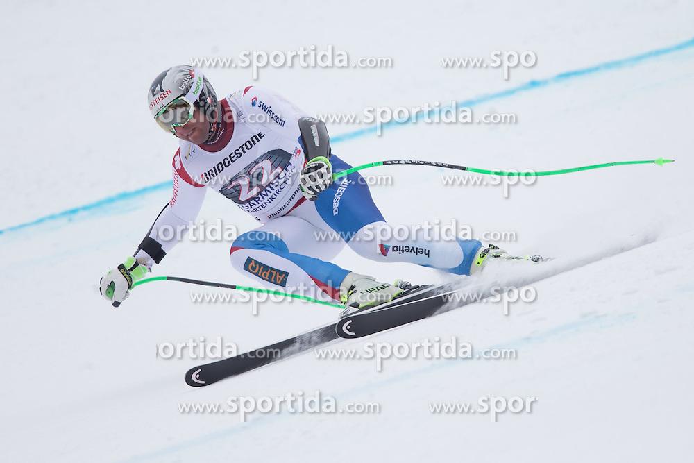 27.02.2015, Kandahar, Garmisch Partenkirchen, GER, FIS Weltcup Ski Alpin, Abfahrt, Herren, 2. Training, im Bild Silvan Zurbriggen (SUI) // Silvan Zurbriggen of Switzerland in action during the 2nd trainings run for the men's Downhill of the FIS Ski Alpine World Cup at the Kandahar course, Garmisch Partenkirchen, Germany on 2015/27/02. EXPA Pictures © 2015, PhotoCredit: EXPA/ Johann Groder