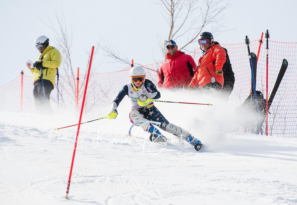 Lafoley Spring slalom with Gunstock Ski Club.  Karen Bobotas Photographer