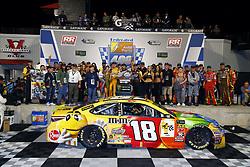 September 22, 2018 - Richmond, Virginia, United States of America - Kyle Busch (18) wins the Federated Auto Parts 400 at Richmond Raceway in Richmond, Virginia. (Credit Image: © Chris Owens Asp Inc/ASP via ZUMA Wire)
