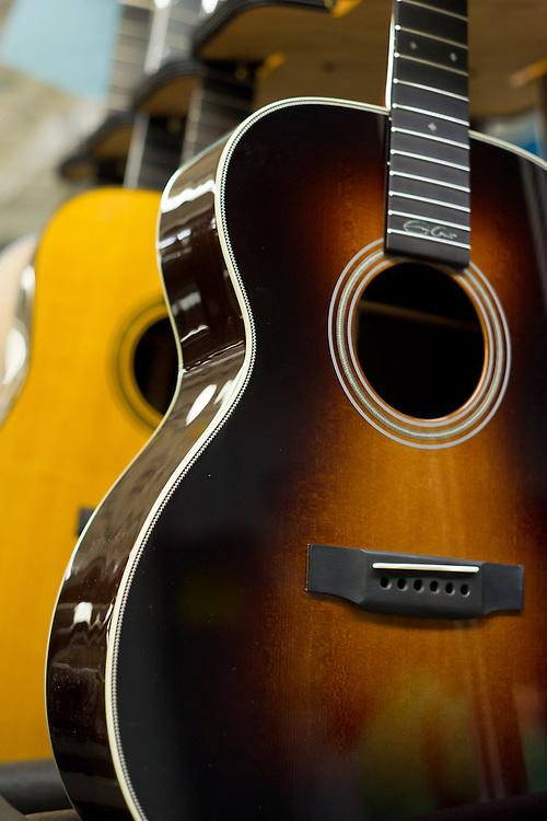 Handmade guitar construction at Martin Guitar, Nazareth PA