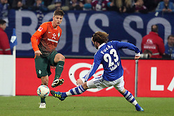 13.12.2011, Arena auf Schalke, Gelsenkirchen, GER, 1.FBL, Schalke 04 vs Werder Bremen, im BildSebastian Prödl/ Proedl (Bremen #15) gegen Christian Fuchs (Schalke #23) // during the 1.FBL, Schalke 04 vs Werder Bremen on 2011/12/17, Arena auf Schalke, Gelsenkirchen, Germany. EXPA Pictures © 2011, PhotoCredit: EXPA/ nph/ Mueller..***** ATTENTION - OUT OF GER, CRO *****