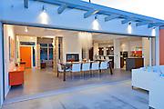 Dining room near patio in luxurious villa