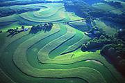 PA landscapes, Aerial Photograph, Berks Co., Pennsylvania, Contour Farming, Family Farm