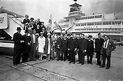 14/06/1963<br /> 06/14/1963<br /> 14 June 1963<br /> Relatives of Monsignor Thomas Ryan pictured at Dublin Airport before departing for Rome to witness his consecration as Bishop.